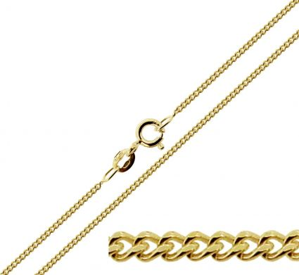 9ct Yellow Gold Plated 2.5mm Diamond Cut Curb Chain