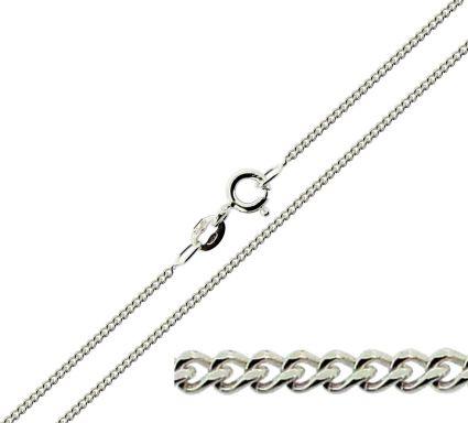 9ct White Gold 1.6mm Diamond Cut Curb Chain