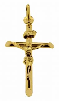 9ct Solid Yellow Gold Crucifix Pendant