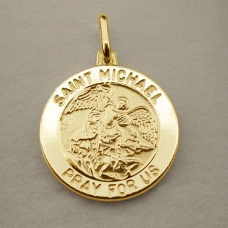 9ct Yellow Gold Plated St Michael Medal