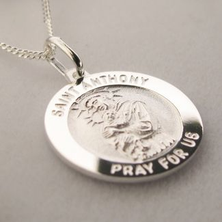 Sterling Silver 3D St Anthony Medal