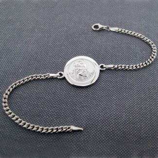 Sterling Silver Ladies St Christopher Bracelet With Optional Engraving