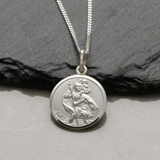 Sterling Silver 16mm St Christopher Pendant