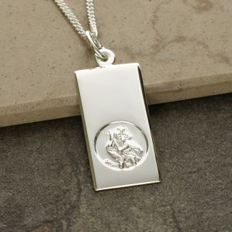 Sterling Silver St Christopher Ingot