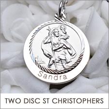 Double Disc  St Christopher Pendants