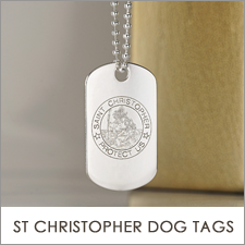 St Christopher Dog Tags