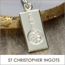 St Christopher Ingot Necklaces