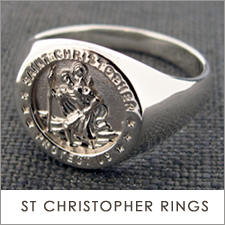 Sterling Silver St Christopher Rings