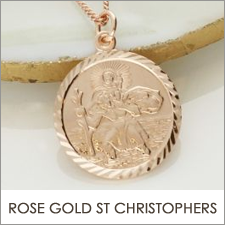 Rose Gold St Christophers