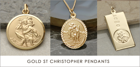 Gold St Christopher Necklaces