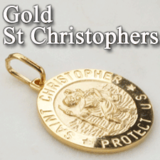Gold St Christopher Medals