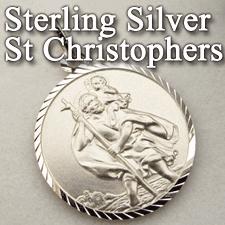 Sterling Silver St Christopher Pendants