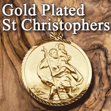Gold Plated St Christopher Pendants