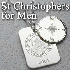 St Christopher Pendans for Men
