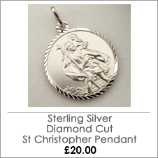 Sterling Silver Diamond Cut St Christopher