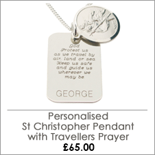 Sterling Silver Concealed Travellers Prayer Tag