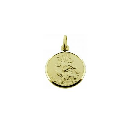 9ct Yellow Gold 8mm St Christopher Pendant