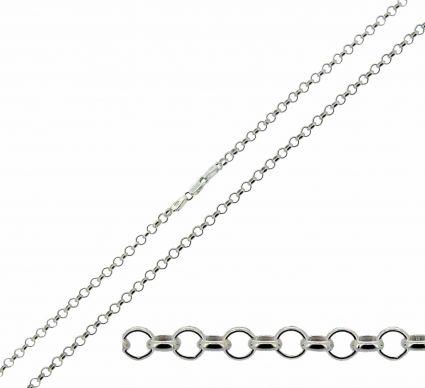 Sterling Silver 2.4mm Light Belcher Chain