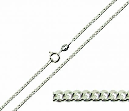 Sterling Silver 2.1mm Diamond Cut Curb Chain