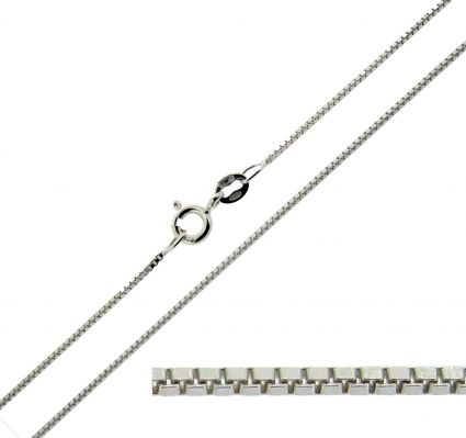 Sterling Silver 1mm Box Chain