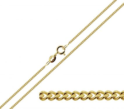 9ct Yellow Gold 1.3mm Diamond Cut Curb Chain