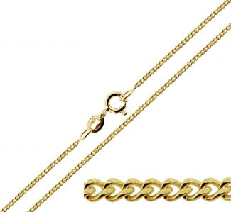 9ct Yellow Gold Plated 2.1mm Diamond Cut Curb Chain