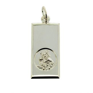 Sterling Silver Large St Christopher Ingot