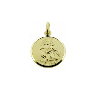 9ct Yellow Gold 12mm St Christopher Pendant