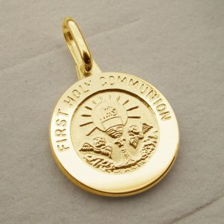 9ct Yellow Gold Plated Holy Communion Pendant