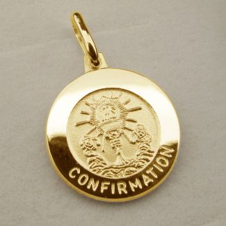 9ct Yellow Gold Plated Confirmation Pendant