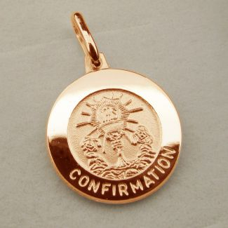 9ct Rose Gold Plated Confirmation Pendant With Optional Engraving and Chain