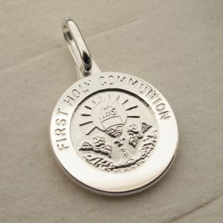 Sterling Silver Holy Communion Pendant With Optional Engraving and Chain