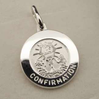 Sterling Silver Confirmation Pendant With Optional Engraving and Chain