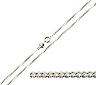 Sterling Silver 1.2mm Diamond Cut Curb Chain