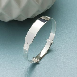 Sterling Silver Baby & Children Expandable ID Bangle With Optional Engraving