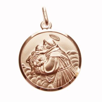 9ct Rose Gold Plated St Anthony Medal
