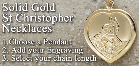 Solid Gold St Christopher Necklaces