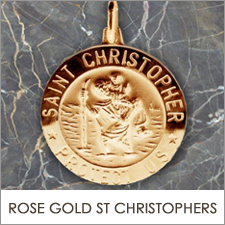 Rose Gold St Christopher Pendants