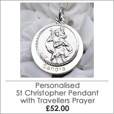 Sterling Silver Concealed Travellers Prayer Pendant