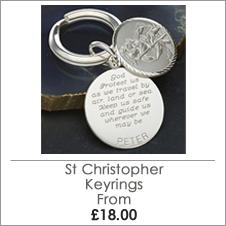 Extensive St Christopher Keyring Range