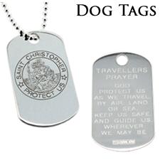 St Christopher Dog Tag Range