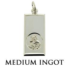 Sterling Silver St Christopher Ingot Pendant