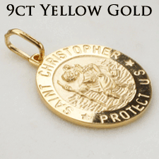 9ct Solid Gold St Christophers