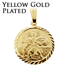 Yellow Gold Plated St Christophers